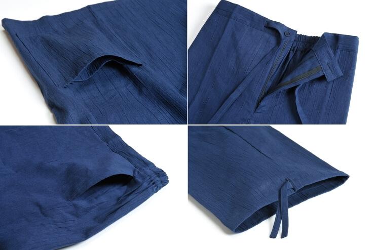 綿麻楊柳作務衣 男性用 日本製 アップ
