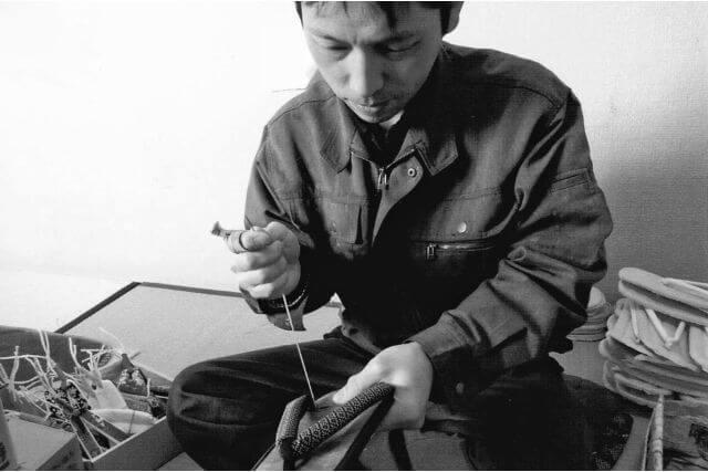 本格手造り竹表タイヤゴム底草履 男性用 日本製 職人