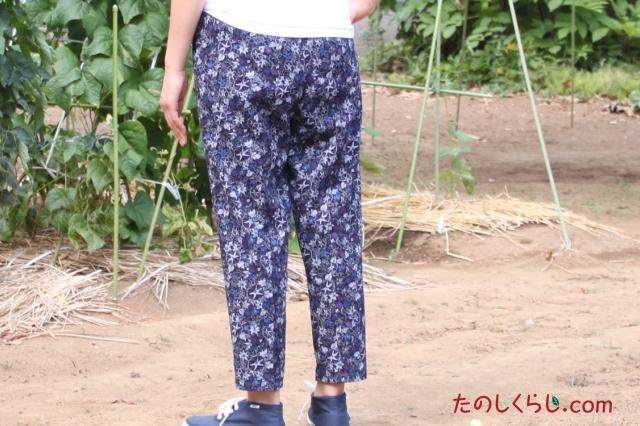 綿ようりゅう藍調プリントイージーパンツ(柄おまかせ2本セット) 女性用 日本製 後