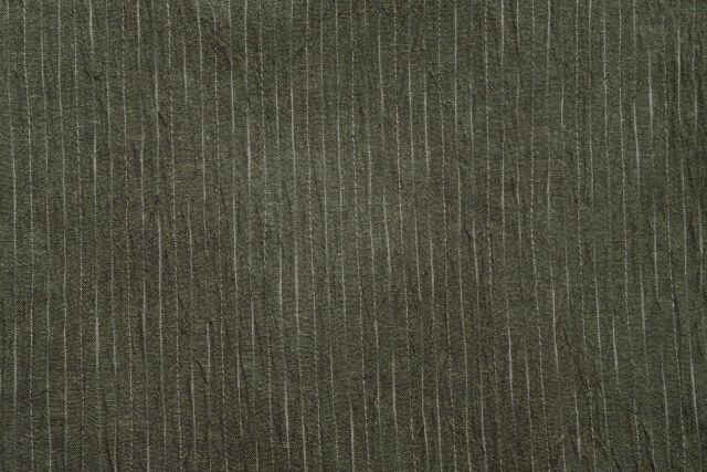 近江縮絣織甚平 濃緑 男性用 日本製 生地