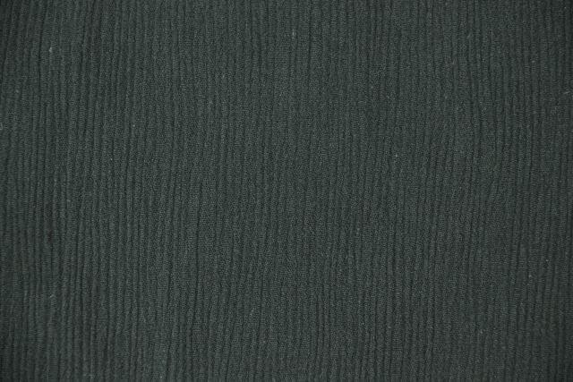 綿楊柳作務衣 黒(ゴム袖・ゴム裾) 男性用 日本製 生地